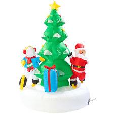 Außen-Deko Weinachten: Selbstaufblasendes XXL Weihnachtsbaum-Karussell, 150 cm
