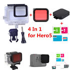For Gopro Hero 5 6 Diving Housing Case+ Red Filter+Protector Film+Lens Cap Mount