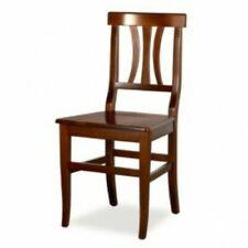 Sedia Arte Povera seduta in legno finitura noce o ciliegio ordine minimo 2 pezzi