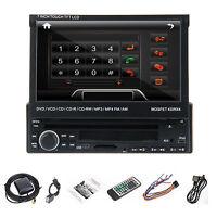 "7"" 1 Din In Dash HD Car DVD CD USB SD Player BT Radio RDS Bluetooth Touch Screen"