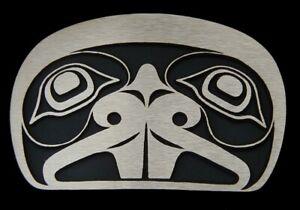 Tlingit Beaver Belt Buckle Solid Bronze Rainbow Metals Brand New