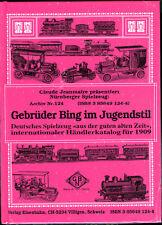 Bing  Jouets  Händlerkatalog 1909 trains Livraison Monde Entier