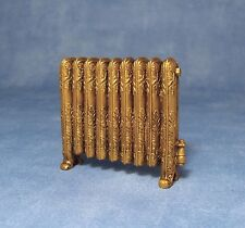 1:12 Scale Dolls House Miniature Gold Coloured Antique Non Working Radiator