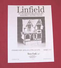 Dura-Craft  *LINFIELD* LN-190 Dollhouse Instructions