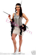 I98 Flapper 1920s Roaring 20s Costume Charleston Fancy Dress Up Gatsby Outfit