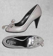 ZARA escarpins cuir gris P 38 = 37 ½  TBE