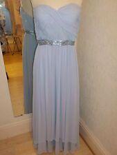 Gina Bacconi Pale Blue   Ruche/Shawl  Detail dress  size 18 SJ90220