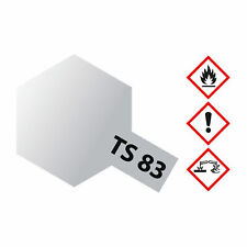 (27,26€/100ml) Tamiya TS-83 Metallic Silber glänzend 100ml Sprayfarbe Kunstharz