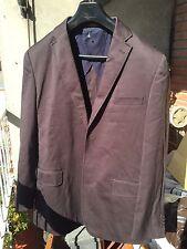 EASY WEAR (corte Inglés)  NUEVA T 52 Marron Algodon Entretiempo Chaqueta Jacket