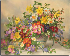Colorful Flowers Paint By Numbers Kits DIY Number Canvas Painting Hand Field