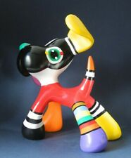 Jacky Zegers Stanley Dog Large Abstract Bright Colors Pop Art Statue 9.8H