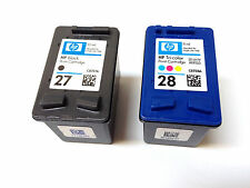 Genuine HP 27/28 Set  Ink Cartridge C8727A C8728A For Deskjet 3650 3740 SEALED