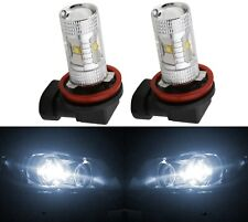 LED 30W H11 White 5000K Two Bulbs Head Light Low Beam Replace Show Use Lamp
