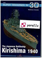 *The Japanese Battleship Kirishima 1940 - Super Drawings in 3D - Kagero *NEW*