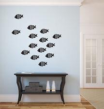"School of Fish Vinyl Wall Decal 22""x22"" Home Decor"