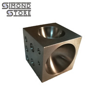 """2"""" Square Steel Dapping Block Cube Punch and Form Doming Jewelry Making Tool"""