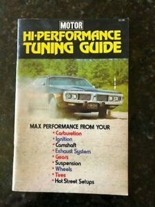 1973 MOTOR HI-PERFORMANCE TUNING GUIDE - FREE SHIPPING - GOOD CONDITION