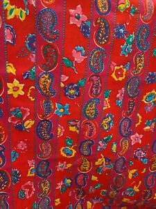 """ESTATE SALE FABRIC 6 Yards X 60"""" Bright Multi Color  Cotton by Peter Pan"""