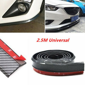Carbon Fiber Universal Car Front Bumper Lip Skirt Splitter Spoiler Wing Body Kit