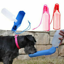 Portable Pet Dog Cat Outdoor Travel Water Bowl Bottle Feeder Drinking Fountain e