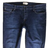 Mens CHEVIGNON straight fit Faded Blue Jeans Size 38 R W38 L31 (482)