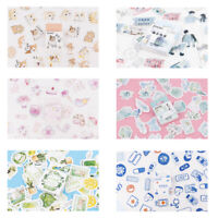 46Pcs Cute Kawaii Stickers Stationery DIY Scrapbooking Diary Label Stickers NEW