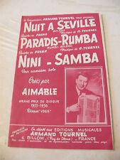 Partitur Nacht in Sevilla Paradise Rumba Nini Samba Aimable Armand Tournel