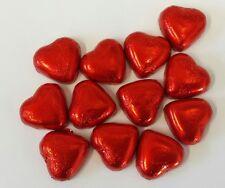 Rosso METALLIZZATO CUORI AL CIOCCOLATO x1KG (circa 140) Caramello sapore Creme riempimento matrimoni