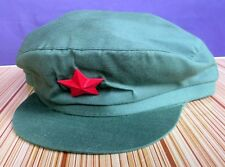 China PLA Soldier Red Army Green Hat Red Guard Cosplay Cap Mao HAT With Red Star