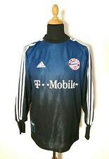Vintage Oliver Kahn FC Bayern Torwart Trikot 2002-03 S Adidas Jersey Blue Shirt