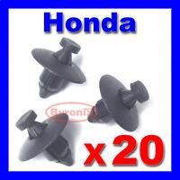 HONDA BUMPERS WHEEL ARCH TRIM CLIPS PLASTIC RIVET FASTENER  FACIAS LINING X 20