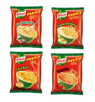 4 x KNORR Instant Ramen Noodle Soup CHICKEN / CHEESE & HERBS / TOMATO Flavors