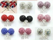 SHAMBALLA STYLE 10MM EARRING 11 COLORS CHRISTMAS GIFT