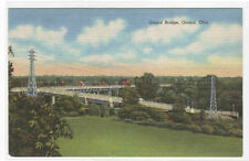 Girard Bridge Girard Ohio linen postcard