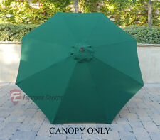 9ft Patio Outdoor Yard Umbrella Replacement Canopy Cover Top 8 Ribs Green