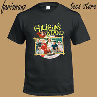 Gilligan's Island Famous Logo Men's Black T-Shirt Size S to 3XL