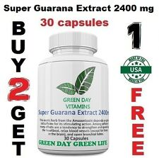 Super Guarana Extract 2400 mg  Energy Weight-loss Fatigue Fighter  Free shipping