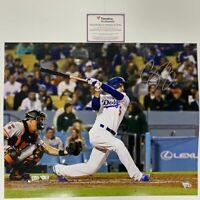 Autographed/Signed COREY SEAGER Los Angeles LA Dodgers 16x20 Photo Fanatics COA
