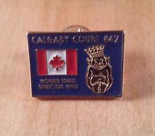 Royal Order of Jesters Lapel Pin Calgary Canada Flag Calgary Court #42 1995