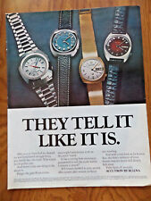 1972 Accutron by Bulova Ad  Show 4 Watches