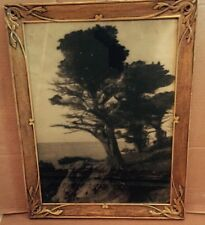 Newcomb Macklin style carved Gold Leaf picture frame California Photo