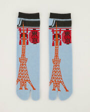 NEW Tokyo View Skytree Unisex Split Toe Tabi Socks Made in Japan
