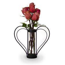 Danya B QB105S Iron Heart-shaped Sweetheart Flower Vase NEW