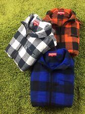 Supreme F/W 2014 Buffalo Plaid Flannel Vest Checkered Plaid Orange White Royal