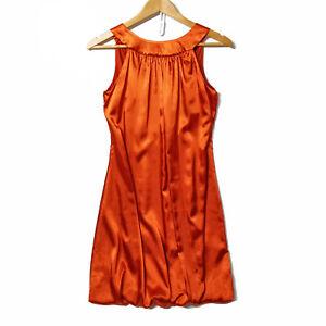Vicky Martin Designer Dress Size UK 8 Unique worn once tie back Rust low back