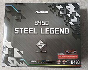 ASRock B450 Steel Legend Ryzen AMD Socket AM4 ATX Excellent Condition