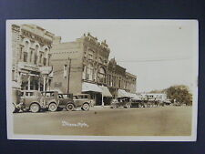 Ithaca Michigan MI Street View Cars Store Signs Real Photo Postcard RPPC 1935