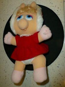 "MISS PIGGY...1987 McDonalds MUPPET BABY plush...11 1/2""...great condition..."