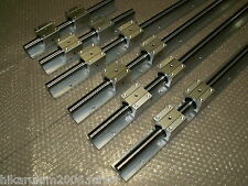 SBR16-350/750/1150MM LINEAR SLIDE GUIDE SHAFT 6 RAIL+12SBR16UU BEARING BLOCK CNC