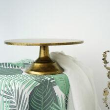 Round Cake Stand Pedestal Gold Dessert Holder Wedding Party Display 12 inch